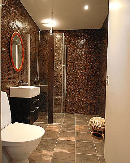 bathroom in brown tile part 1 in bathroom tile design