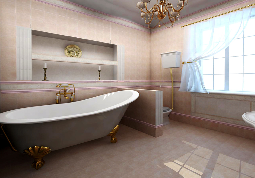 "Bathroom design idea ""Classic"" - bath."