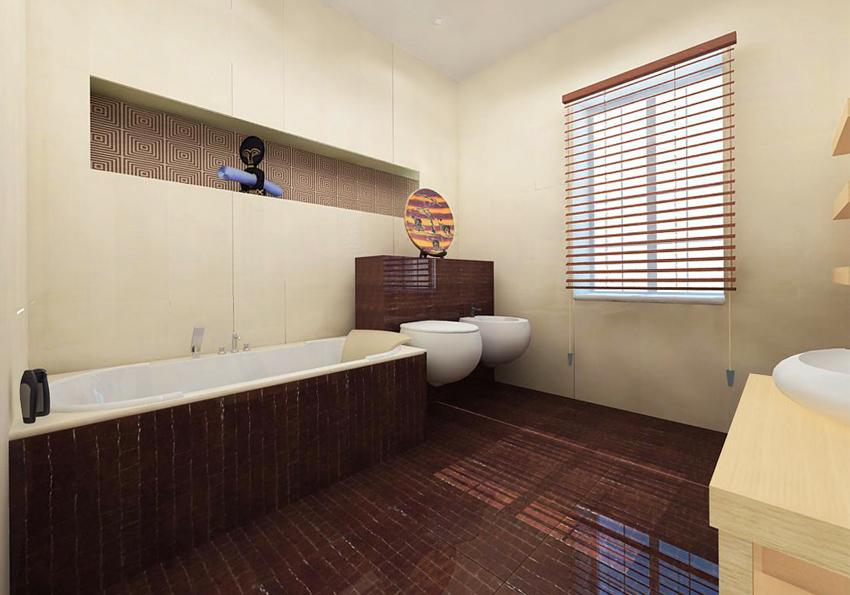 "Bathroom Design Idea ""Ethnic"" - bath."