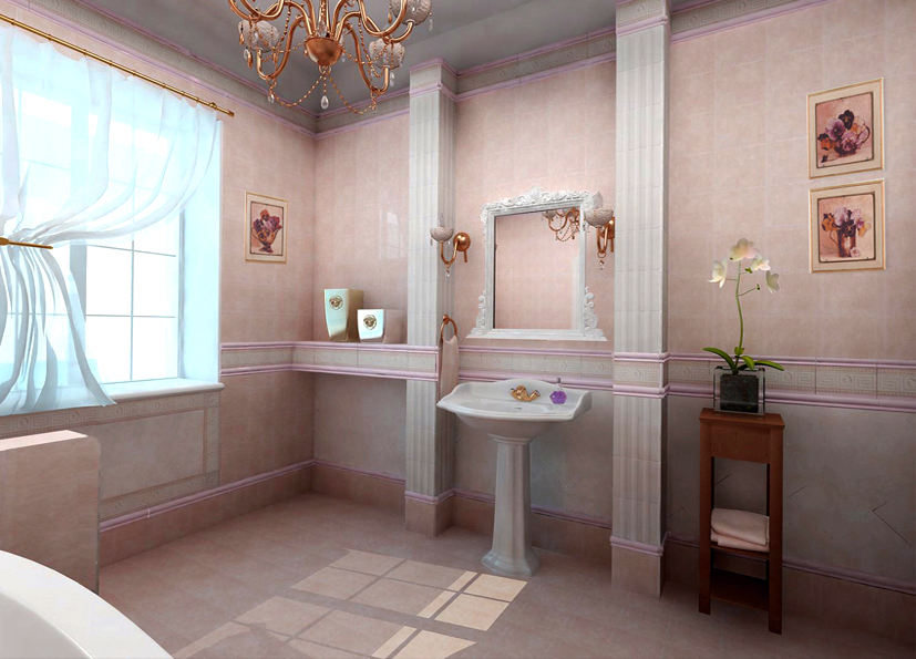 "Bathroom design idea ""Classic"" - washblow."